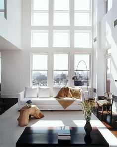 justthedesign: Living Room / Windows / White Design