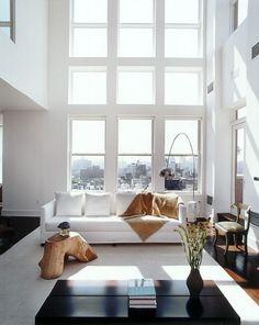justthedesign:Living Room / Windows / White Design