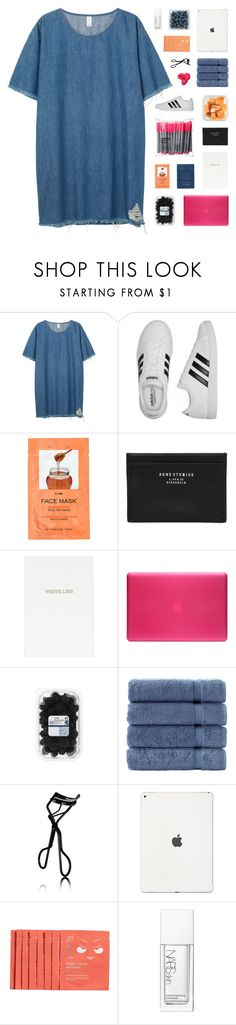 """""""- all the things you'd say, they were never true, never true"""" by p-ureness ❤ liked on Polyvore featuring Monki, adidas, H&M, Passport, Acne Studios, Topshop, Incase, Makroteks, Chanel and Rodial"""
