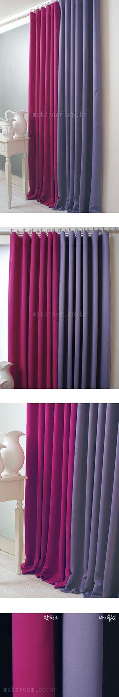 메이크룸 [실크 암막커튼-재입고(hot pink&violet)]