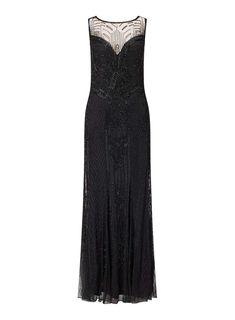 PREMIUM Black Decorative Jasmine Maxi Dress
