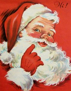 This is what I grew up thinking Father Christmas looked like! Christmas Past, Father Christmas, Christmas Greetings, Christmas Holidays, Xmas, Christmas Mantles, Christmas Ornaments, Vintage Christmas Images, Retro Christmas