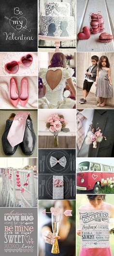 Valentines Wedding Day Hearts & Chalkboards Inspiration Board by Pixel & Ink Blog
