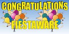 Fiesta fans congratulate another year of fiestaware.