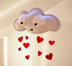 Lovellaby  - Rain cloud mobile- on Etsy, $18.00