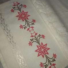 Cross Stitch Borders, Cross Stitch Flowers, Cross Stitch Charts, Cross Stitch Designs, Silk Ribbon Embroidery, Crewel Embroidery, Cross Stitch Embroidery, Palestinian Embroidery, Baby Knitting Patterns