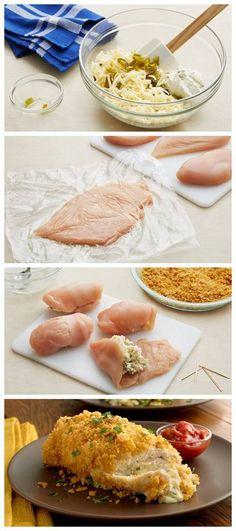 Jalapeño Popper-Stuffed Chicken Breasts Recipe