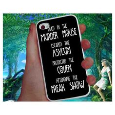 American horror story asylum iPhone Case For iPhone 4 Case/iPhone 5... ($13) ❤ liked on Polyvore featuring accessories, tech accessories, phone cases, phone, phone stuff, iphone cover case, apple iphone case, iphone sleeve case and iphone cases