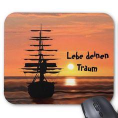 Segelschiff mit Sonnenaufgang Mauspad Movies, Movie Posters, Art, Mousepad, Sailing Ships, Sunrise, Simple, Nice Asses, Photo Illustration