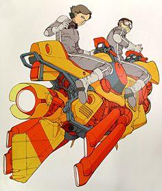 otomblr:  80s Canon ad byKatsuhiro Otomo
