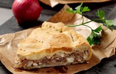 Amateur Cook Professional Eater - Greek recipes cooked again and again: SAVOURY PIES WEEK Onions and Feta cheese pie with homemade pastry Greek Pita, Greek Pastries, Greece Food, Homemade Pastries, Snack Recipes, Cooking Recipes, Cheese Pies, Greek Cooking, Mediterranean Recipes