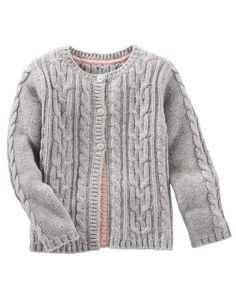 Toddler Girl Cable Knit Sweater | OshKosh.com