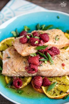 Salmon Filets With orange-raspberry Sauce. Grilled salmon with an intense orange flavor: this one is a true treat for the citrus-lovers.