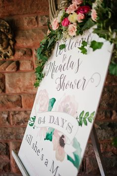 Bridal Shower Welcome Display | TrueBlu | Chase Vanderveen Photography Garden Bridal Showers, Classic Garden, Bridal Shower Signs, Party Decoration, Cute Quotes, Big Day, Bridesmaid, Events, Lingerie