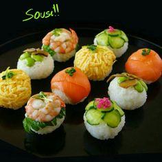 Temari Zushi (Sushi Balls) 手毬寿司