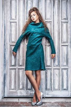 """Katerina Kelberg. Collection """"From the deep..."""" Felted dress"""