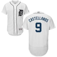 Tigers #9 Nick Castellanos White Flexbase Authentic Collection Stitched MLB Jersey