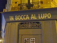 In Bocca al Lupo Italien rue Francoeur Plat du jour 12,50€