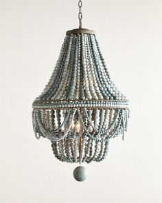 Regina Andrew Design Malibu Beaded 6-Light Chandelier. Gorgeous!! Would totally make a room complete. <3