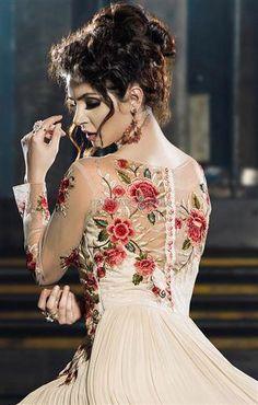 #Celebritanarkali suits churidar pattern #partywear suit #neckdesigns