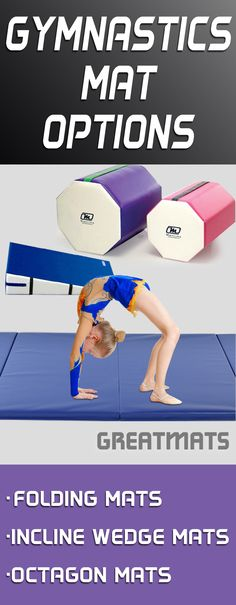 Greatmats has a large selections of low price, high quality gymnastics mats, including folding, octagon and wedge mats. Check them out!