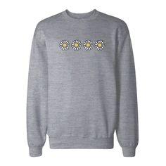 Flowers Graphic Print Sweatshirt Back To School Unisex Sweat Shirt