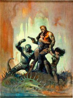 Original Comic Art:Covers, Frank Frazetta The Solar Invasion Paperback Cover OriginalArt (Popular Library, 1968).... Image #1