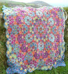 Ravelry: Kaleidoscope Afghan/Blanket pattern by Amanda Perkins