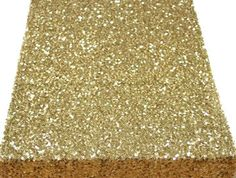 1 YARD Gold Sequins Seaweed Fabric By The Yard Table by KBazaar