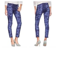 """GAP Always Skinny Skimmer Jeans – 27 - NWT GAP Always Skinny Skimmer Jeans – DETAILS: Retail $74.95 – Size: 27 – Color: Blue Tie Dye – Style #455565 – Low rise – Skinny in the hip & thigh – Slim leg opening – Skims just above the ankle – Stretch -  Inseam: 27""""/Front Rise: 8.25""""/Leg Opening: 6"""" – 98% cotton, 2% spandex – Brand New with Tags GAP Jeans"""