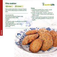 Chia cookies:  30g chia seeds 130g Whole-grain flour 50g steel-cut oats 2 bananas 1 egg or egg replacer at your choice 30g baking powder (or half baking soda and half b.p.) 40g minced dates 4 tbs agave syrup or honey 1 tbs cinnamon 20ml water  Put the dry ingredients together, than add the wet ones and stir well. Set the oven at 170°C, lay the cookies on a baking sheet and cook for 20 minutes. Et voilà!