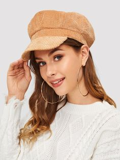 SHEIN offers Rib Bakerboy Cap   more to fit your fashionable needs. c96c45316a6