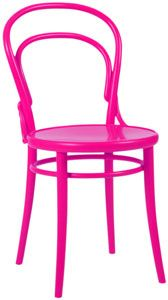 Reproduction bent wood thonet side chair in hot pink for a splash of color.   #abc_home #pink