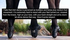 Love this - not many people realize how difficult Irish dance actually is.