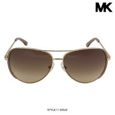 Michael Kors Unisex Aviator Sunglasses with Case & Cleaning Cloth - Assorted Styles at 65% Savings off Retail!