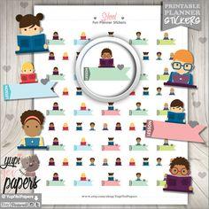 School Planner Stickers by www.YupiYeiPapers.Etsy.com