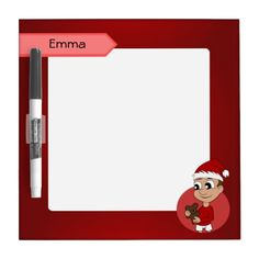 Christmas-boy-head-07.png Dry Erase White Board
