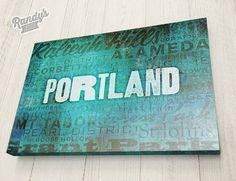 Personalized Subway Art, Hometown Neighborhood Typography Art, Customization on a whole new level