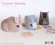 Fluffy Rabbit, Fluffy Bunny, Rabbit Treats, Easter Gift Baskets, Party In A Box, Easter Party, Paper Toys, Diy Paper, Decoration