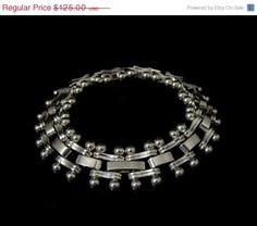 STERLING Silver Bracelet HEAVY Unusual Links by PremierAntiquesNY