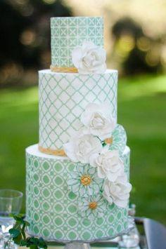 Light green layered cake