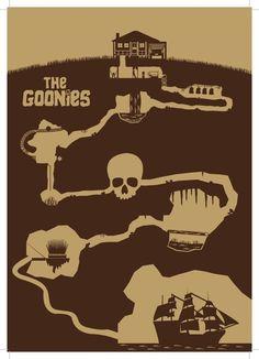 East End Prints - The Goonies - Minimal Prints, £19.95 (http://www.eastendprints.co.uk/the-goonies-minimal-prints/)