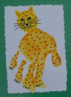 Cheetah handprint