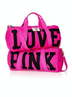 Love this Pink Victoria's Secret Duffle Bag. Would be great for short trips:)