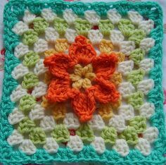 Croche com flores