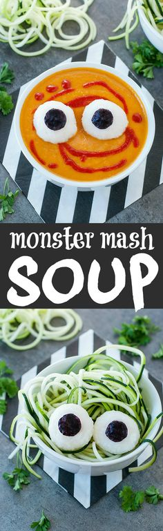 This Healthy Halloween Soup is so much fun to make and even more fun to EAT!