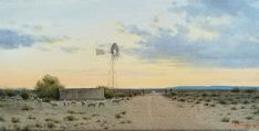 South African Landscape and Karoo Oil Paintings - Johann Koch Fine Art Beaufort West, Landscape Paintings, Landscapes, Windmill, Nice Things, Spring Time, Painters, Sunrise, Sky