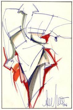 Fondazione Gianfranco Ferré / Collezioni / Donna / Prêt-à-Porter / 1985 / Primavera / Estate Fashion Design Sketchbook, Fashion Design Portfolio, Fashion Illustration Sketches, Illustration Mode, Fashion Sketches, Gianfranco Ferre, Ferrat, Fashion Project, Designs To Draw