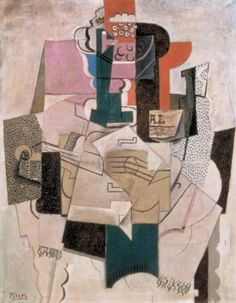 Pablo Picasso, 'Bowl of Fruit, Violin and Bottle' 1914