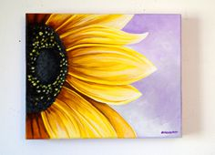 how to paint a sunflower on a canvas - Google Search